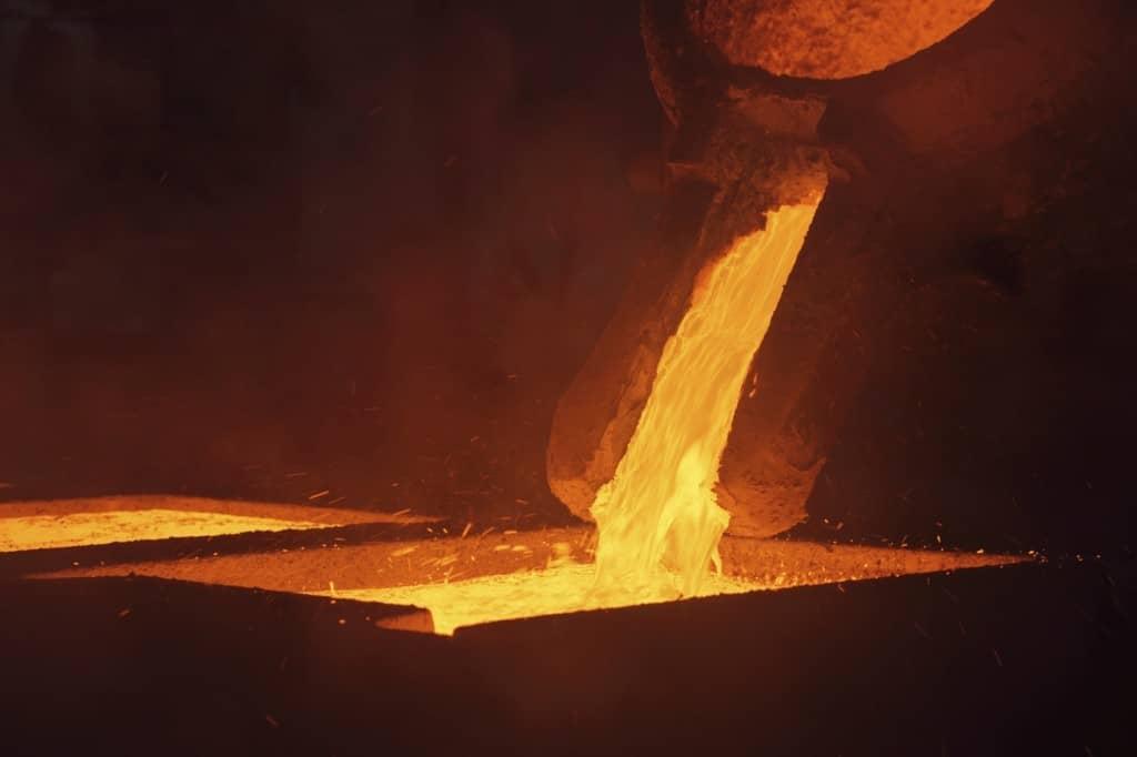 Metal casting slider